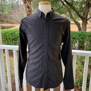 UNtuckit Constanti Grey Cotton Flannel Shirt. Lg